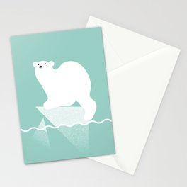 Polar bear in trouble Stationery Cards