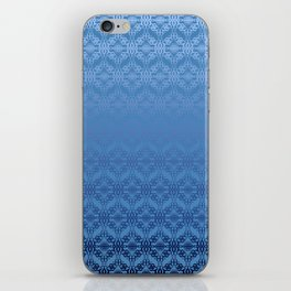 Blue Weaves Pattern iPhone Skin