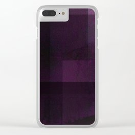 Deep Violet - Digital Geometric Texture Clear iPhone Case