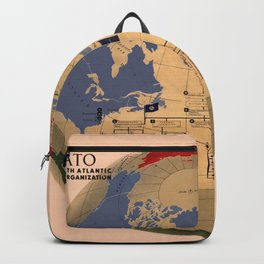 Map Of N.A.T.O 1955 Backpack