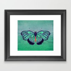 Butterfly in Spring Green Framed Art Print