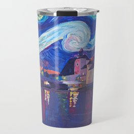 Starry Night in Regensburg  Van Gogh Inspirations on River Danube Travel Mug