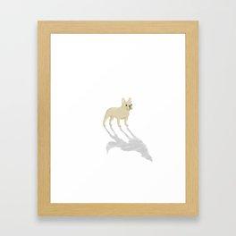 Wild At Heart - Cream French Bulldog Framed Art Print