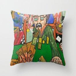 EL BUFON Throw Pillow