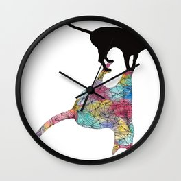 The Cat and Its Shadow Wall Clock