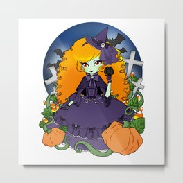 The Violet Witch Metal Print