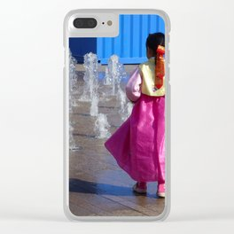 Water Play Temptation Clear iPhone Case