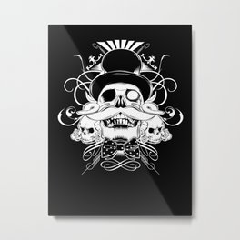 and my moustache shall be my legacy Metal Print