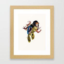 Flexing Dog Framed Art Print