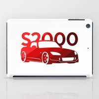 honda iPad Cases featuring Honda S2000 - classic red - by Vehicle