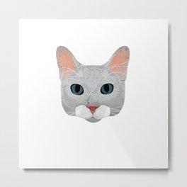 Vintage cat Ramona Metal Print