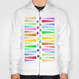 Rainbow Stripes Hoody