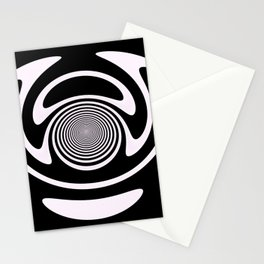 Smile of Buddha. Black and white Stationery Cards