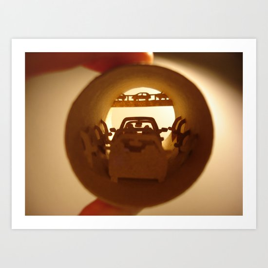 "Roll ""Traffic jam"" (Rouleau ""Embouteillage"") Art Print"