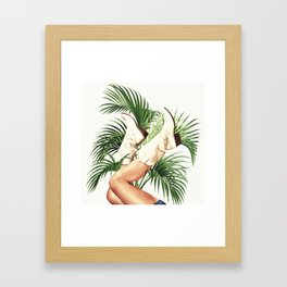 These Boots - Palm Leaves Framed Art Print