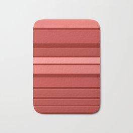 Terracotta striped background Bath Mat