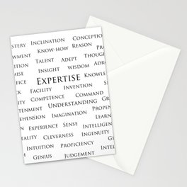 Expertise-Word Poster Stationery Cards