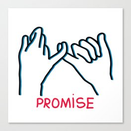 Promised hand emoji Canvas Print
