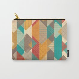 Geometric Geek Pattern - Squares, Stripes, Grids Carry-All Pouch