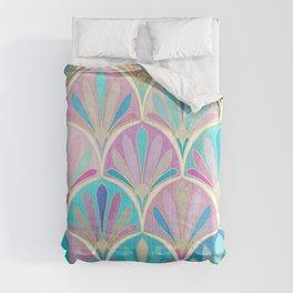 Glamorous Twenties Art Deco Pastel Pattern Comforters