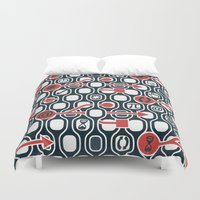 geek Duvet Covers featuring Geek spirit by Chicca Besso