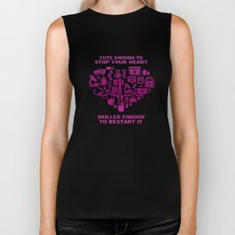 Nurses are cute & intelligent Biker Tank