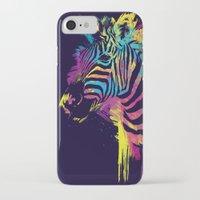 zebra iPhone & iPod Cases featuring Zebra Splatters by Olechka