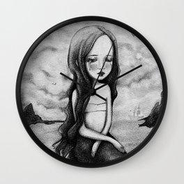 Sad Mermaid Wall Clock