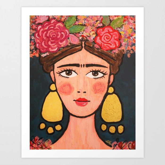 Frida Kahlo Stylized No 2 Kunstdrucke