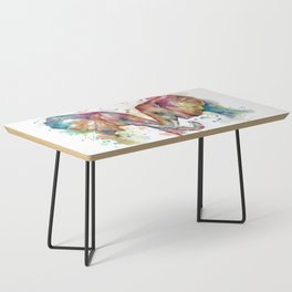 Sunset Elephants Coffee Table