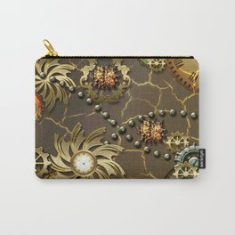 Steampunk golden design Carry-All Pouch