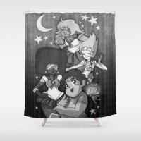 sailormoon Shower Curtains featuring SU SailorMoon by Ravenno