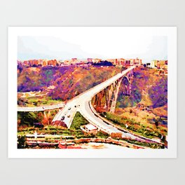 Catanzaro: Morandi bridge Art Print