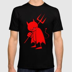 minima - sad devil Mens Fitted Tee Black MEDIUM