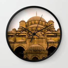 Mosque from above. Wall Clock