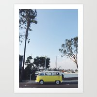 vw bus Art Prints featuring VW Bus by Meghan