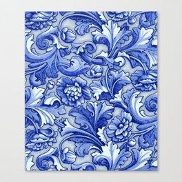 Blue and White Porcelain Canvas Print
