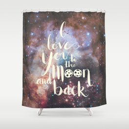 To the Moon Shower Curtain