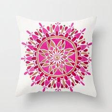 Mandala – Pink & Rose Gold Throw Pillow