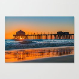 Copper Sands at Sunset Canvas Print
