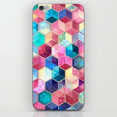 Topaz & Ruby Crystal Honeycomb Cubes iPhone & iPod Skin