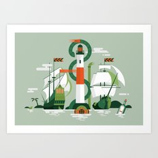Sea of Adventure Art Print