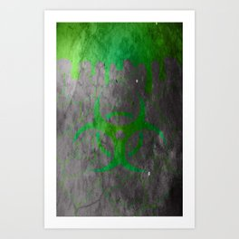 Green Radioactive- Weathered Art Print