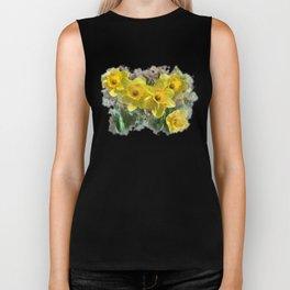 Watercolor Daffodils Biker Tank
