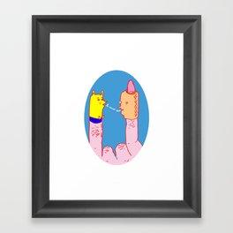 Los Dedos Framed Art Print