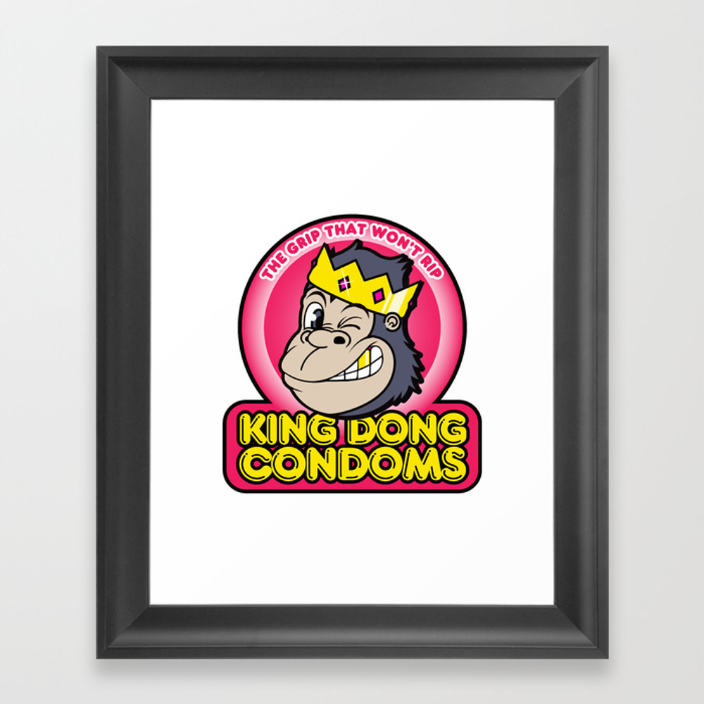 King Dong Condoms Framed Art Print by Buyproduct FRM8441822