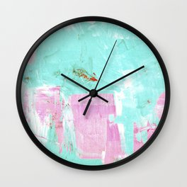 pinktürkis Wall Clock
