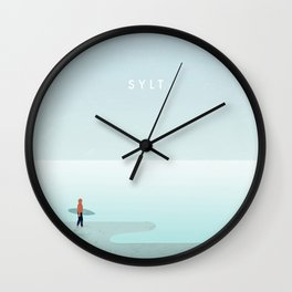 Surfer Sylt Wall Clock