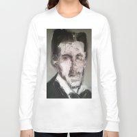 tesla Long Sleeve T-shirts featuring Tesla by Larry Caveney