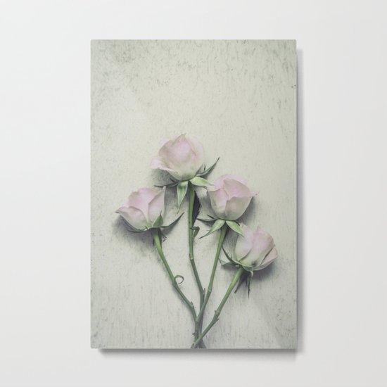 Delicate Roses Metal Print